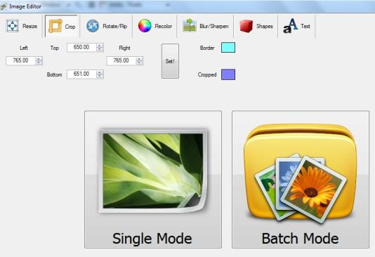 Free Image Editor- interface