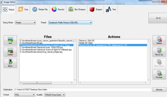 Free Image Editor- batch image editing software