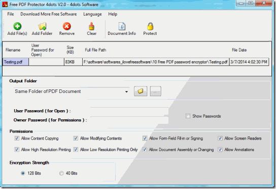 Free PDF Protector-Home
