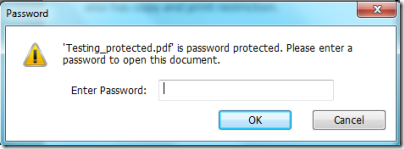 Free PDF Protector-PasswordPrompt