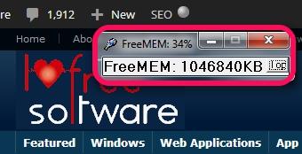 FreeMEM- view Free RAM