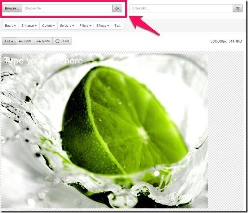 FreeOnlinePhotoEditor-main interface