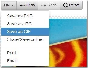 FreeOnlinePhotoEditor-save options