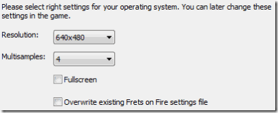 Frets on Fire-installation