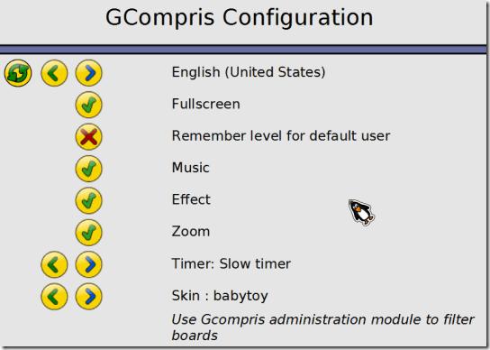 GCompris-Configuration