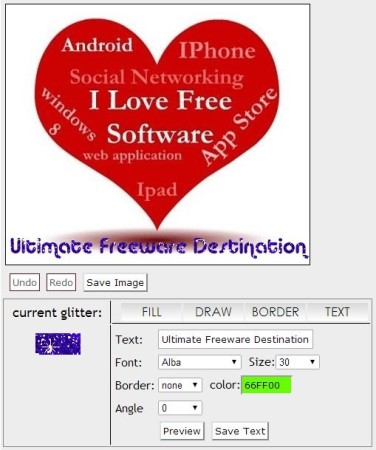 Glitter Base- Glitter text options