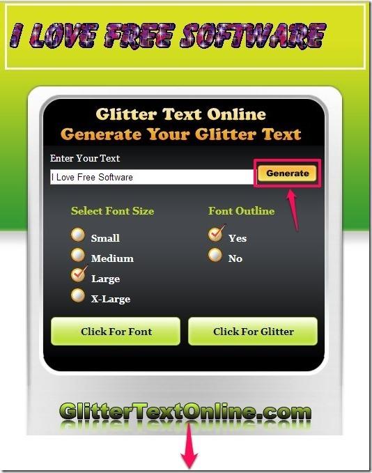 Glitter Text Online