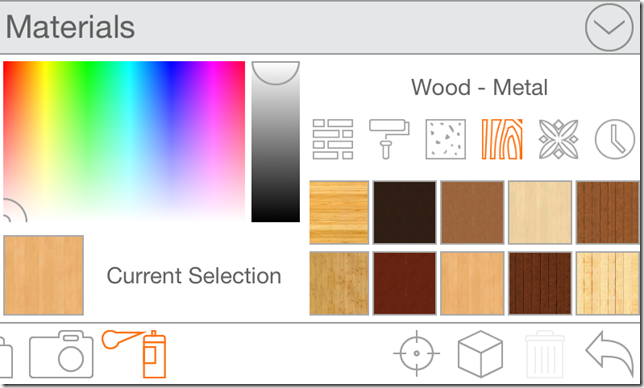 Customizing Items In Room Planner App