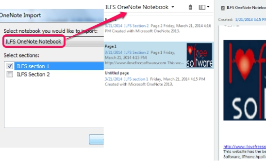 Import OneNote notebooks to Evernote