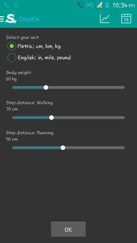 Initial Setup of StepOn Step Tracker Pedometer