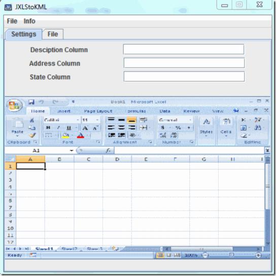 Free XLS to KML Converter: JXLStoKML