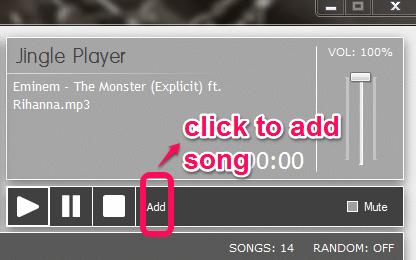 Jingle Player song adding Option