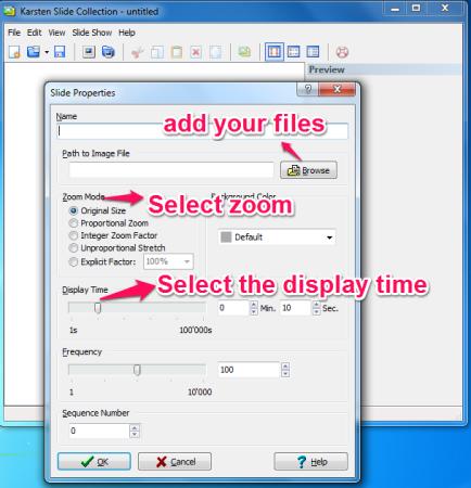 KArsten Slide Show editing option