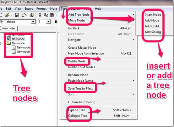 KeyNote NF tree nodes