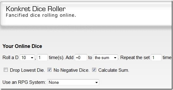 Konkret Dice Roller