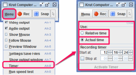 Krut Interface With Timer Option
