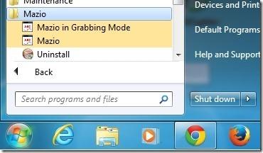 Mazio start menu-grabbing mode