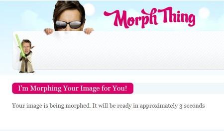Morph Thing-free photo morphing