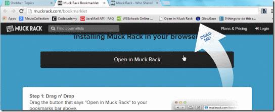 Muckrack Bookmarklet-Drag n Drop