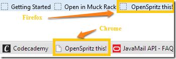 OpenSpritz-Toolbars