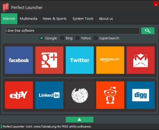 Perfect Launcher- interface
