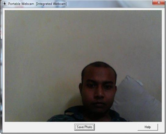 Portable Webcam-HomeScreen