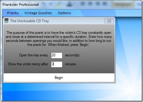 Prankster Pro- Unclosable CD Tray
