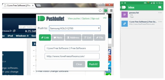Pushbullet for Android Send List, Links, Files And More From PC To Phone