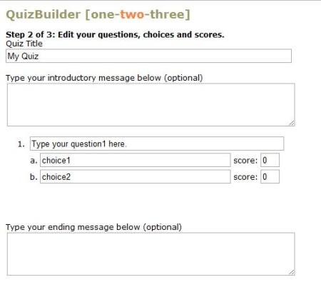QuizBuilder-make quiz online