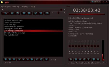 SMP3 main interface