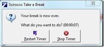 Scirocco Take a Break-Restart timer