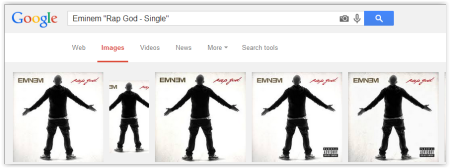 Album Cover Search via Google Search