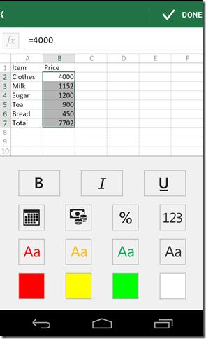 Formatting Excel Spreadsheet
