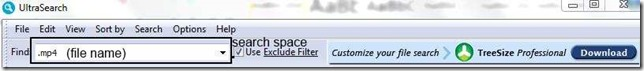 Search space and file name