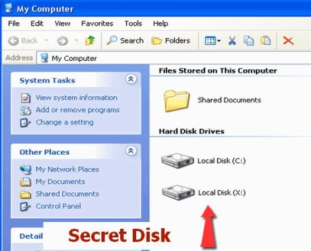 password protected virtual drive