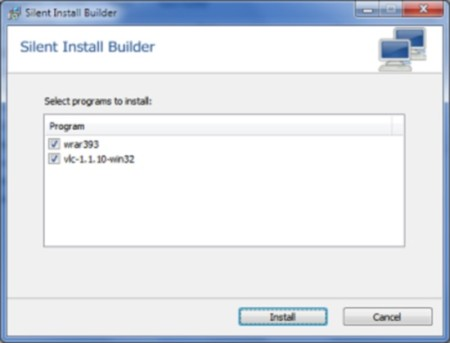 Silent Install Builder-install multiple software