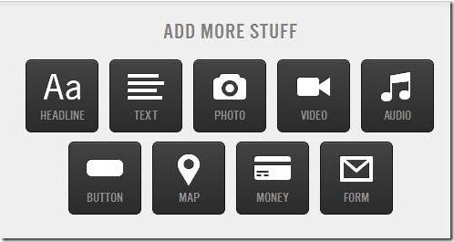 Tackk-add stuff or content