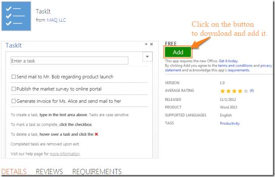 TaskIt-Homepage