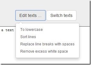 Text Compare options