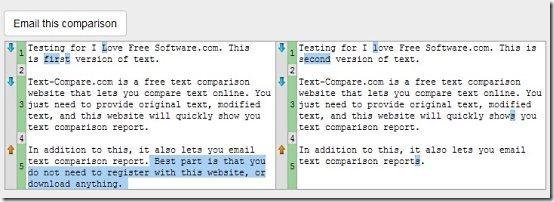Text Comparison Report