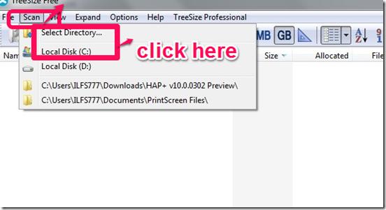Treesize free scanning hard disk