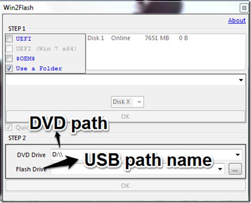 Type path name
