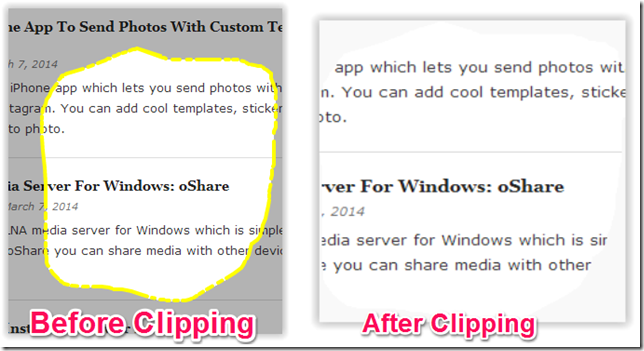 Clipping Webpage
