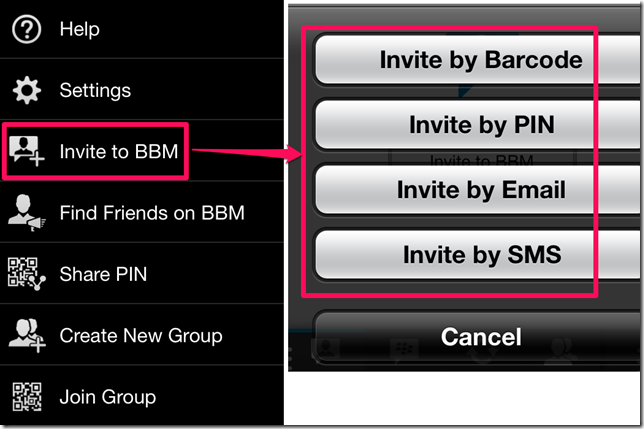 Inviting To BBM