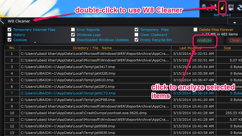W8 Sidebar Cleaner