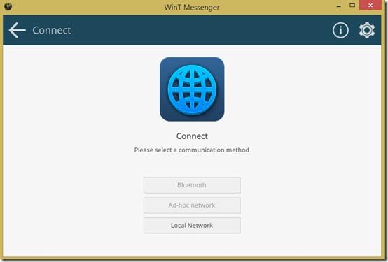 WinT Messenger connection
