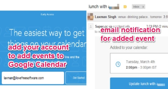 add events to Google Calendar