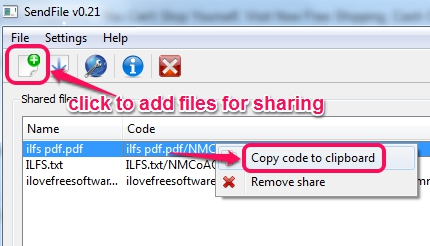 add files and copy file code