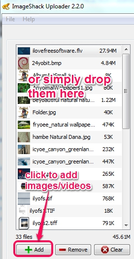 add photos and videos