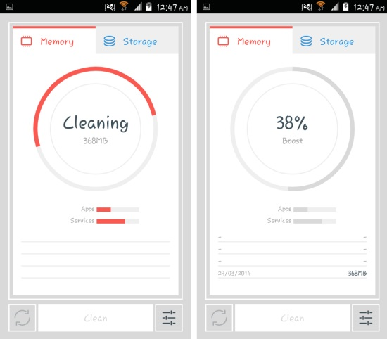cleaning redundant processes and services with the cleaner for android